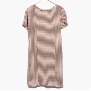 NWT - Madewell Striped Button-back Tee Dress